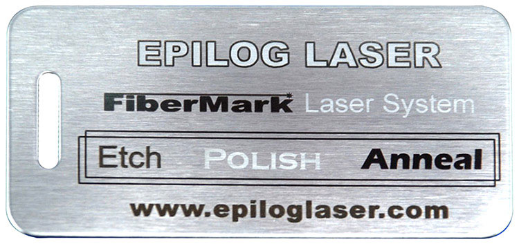 Metal plate with etch, polish, and anneal marks