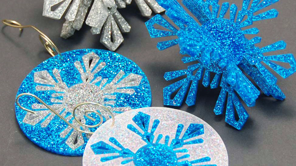 Laser Cut Acrylic Inlay Ornaments