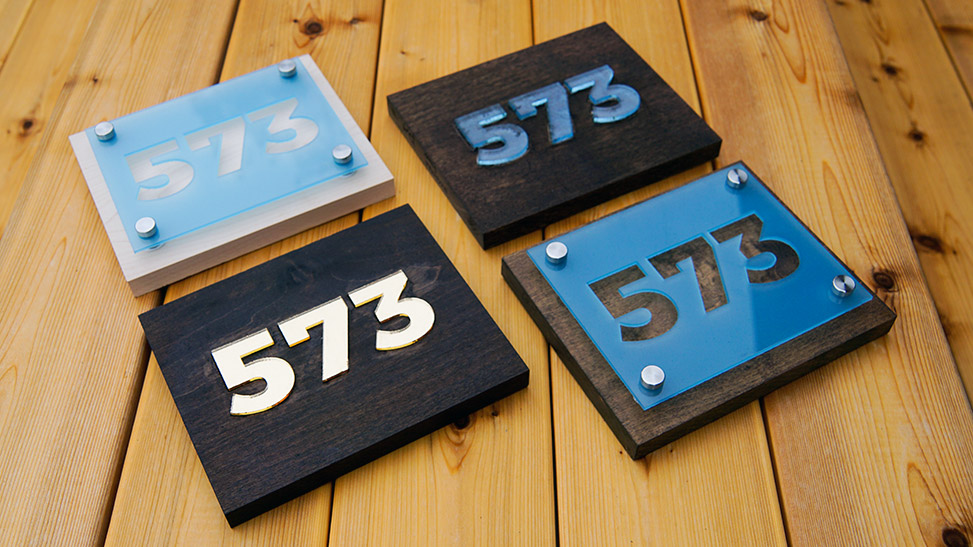 Laser Cut Acrylic House Number Signs