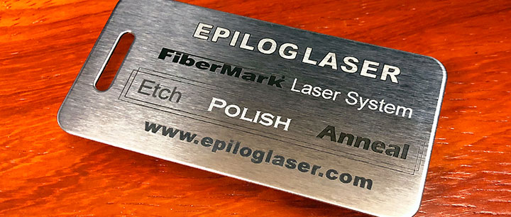 metal etch polish anneal laser engraving on stainless steel
