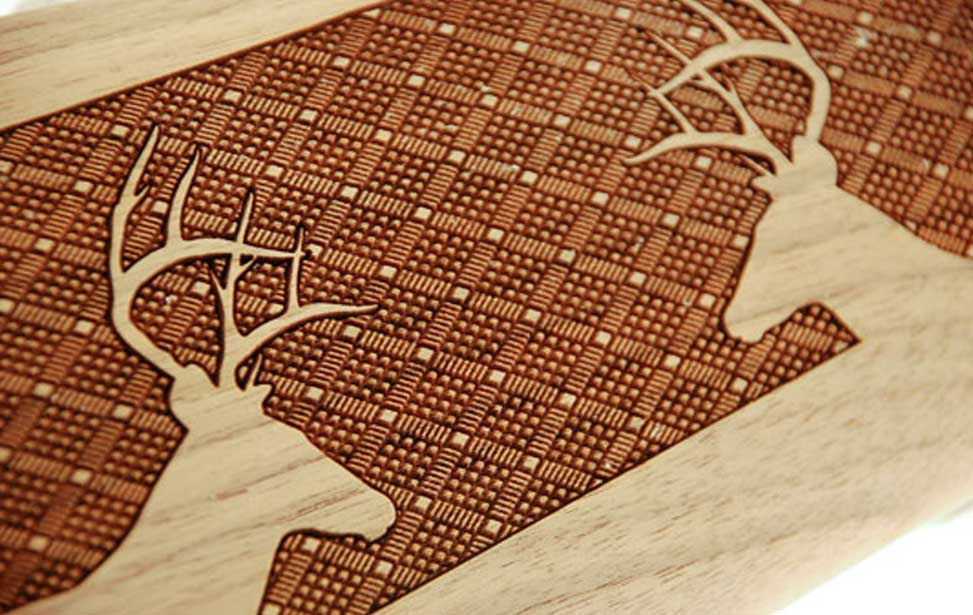 Gunstock engraving and checkering with a laser engraver by for Laser engraver templates