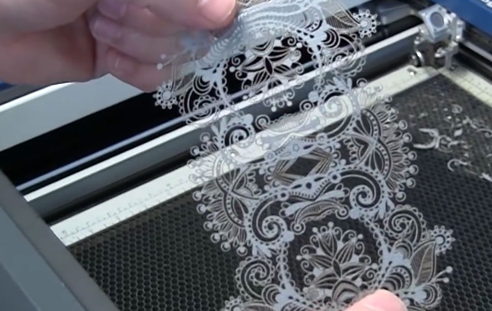 laser cut paper lace pattern
