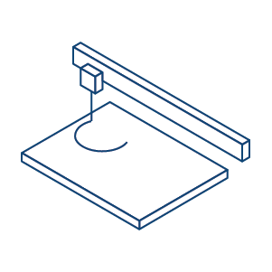 laser machine icon