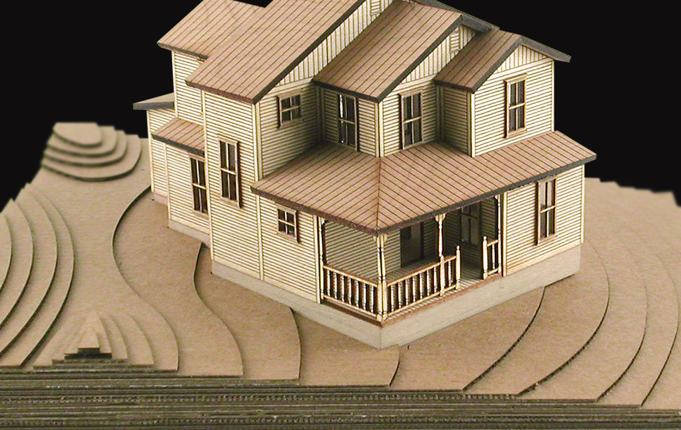 Laser Cut Plywood Cardboard Model Home