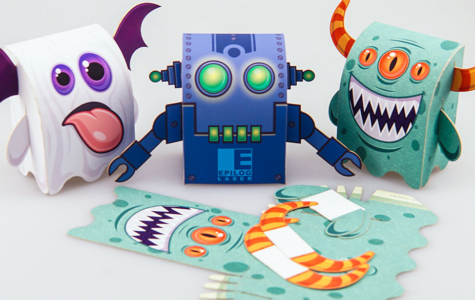 3D Paper Monsters - Laser Cut eView