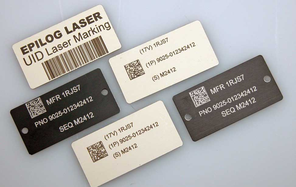 Creating Uid Labels With A Laser Machine From Epilog