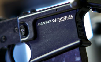 Gun marked laser part.