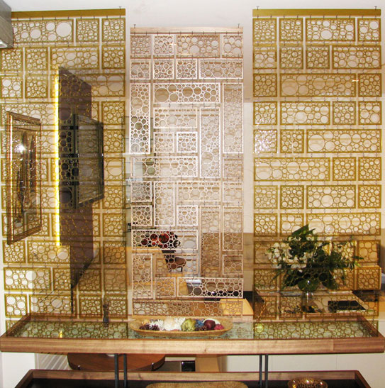 Laser cut wall screen.