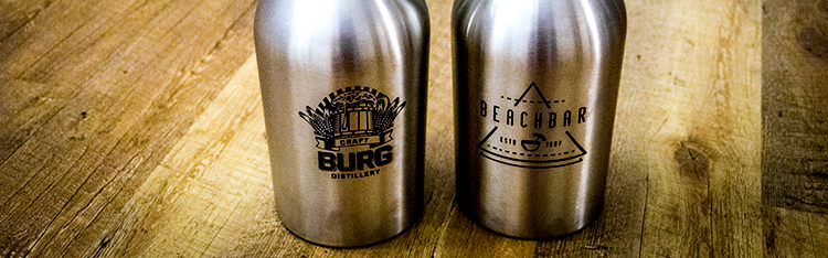 Melengkapi Laser Marked Stainless Steel Growlers
