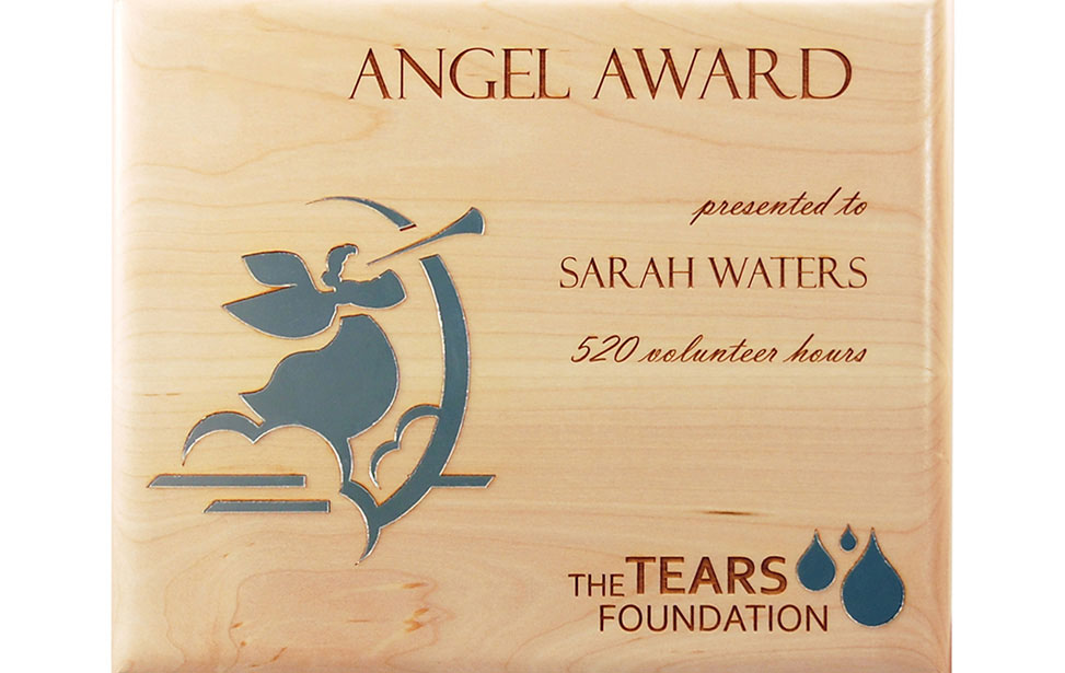 Laser Engraved Wood & Acrylic Inlay Award