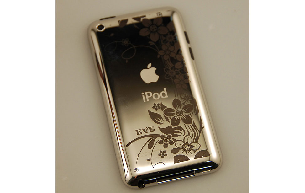 CO2 Laser Marked iPod