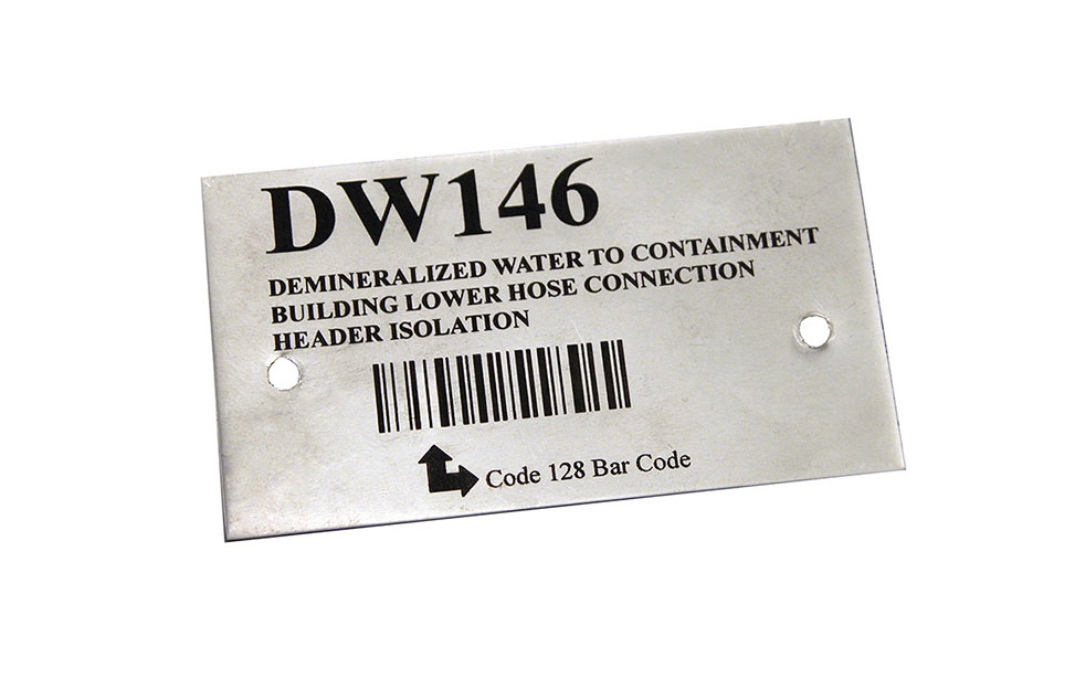 Barcode Engraved with CO2 Metal Marking Spray