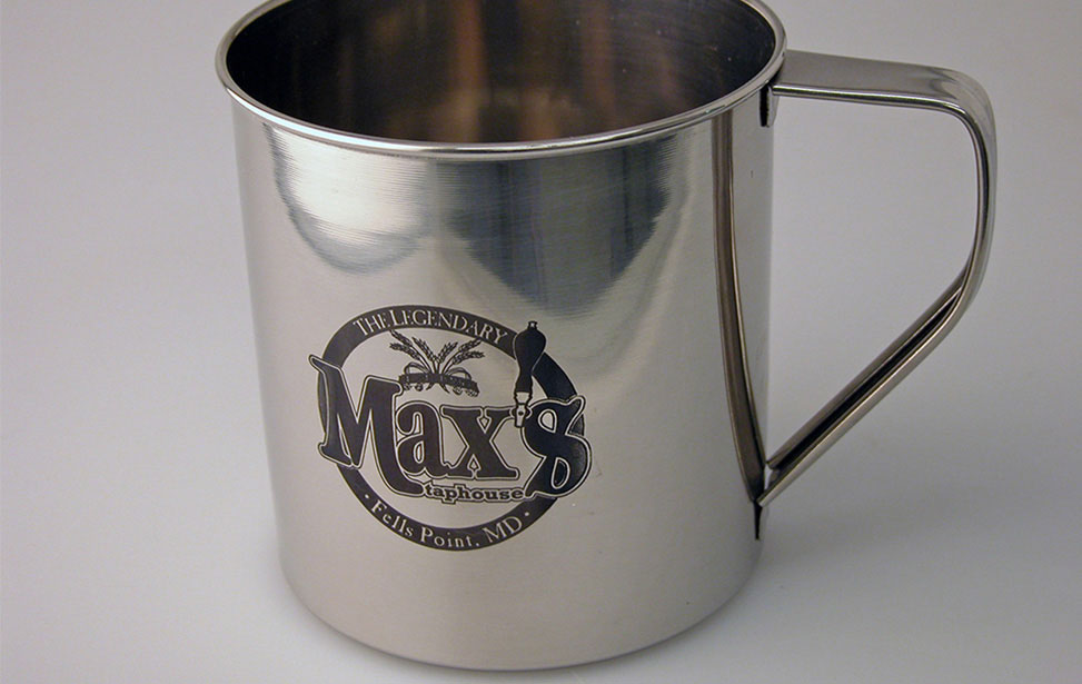 Tin Cup Marked with CerMark