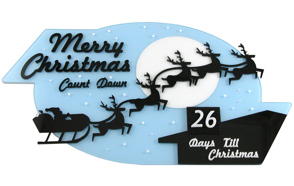 Christmas countdown until Christmas desk signage