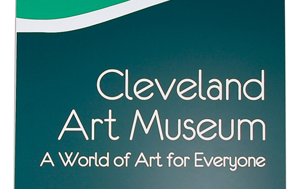 Cleveland Art Museum indoor signage plaque