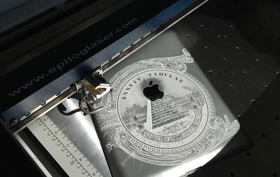 Laser Engraving on Apple iPad 2