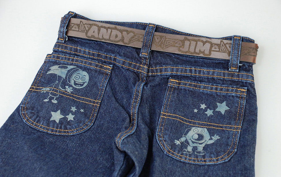 Laser Etched Jean Pocket