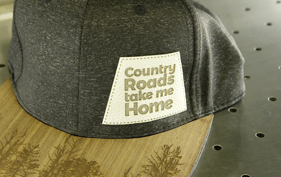 Laser Cut and Engraved Hat Patch