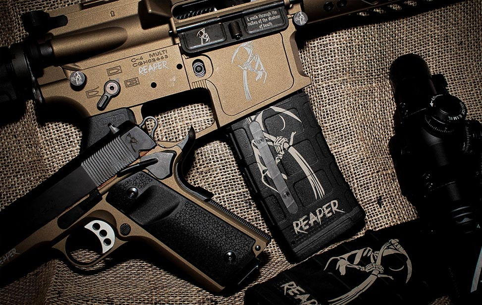 Firearms Engraved with an Epilog Fiber Laser