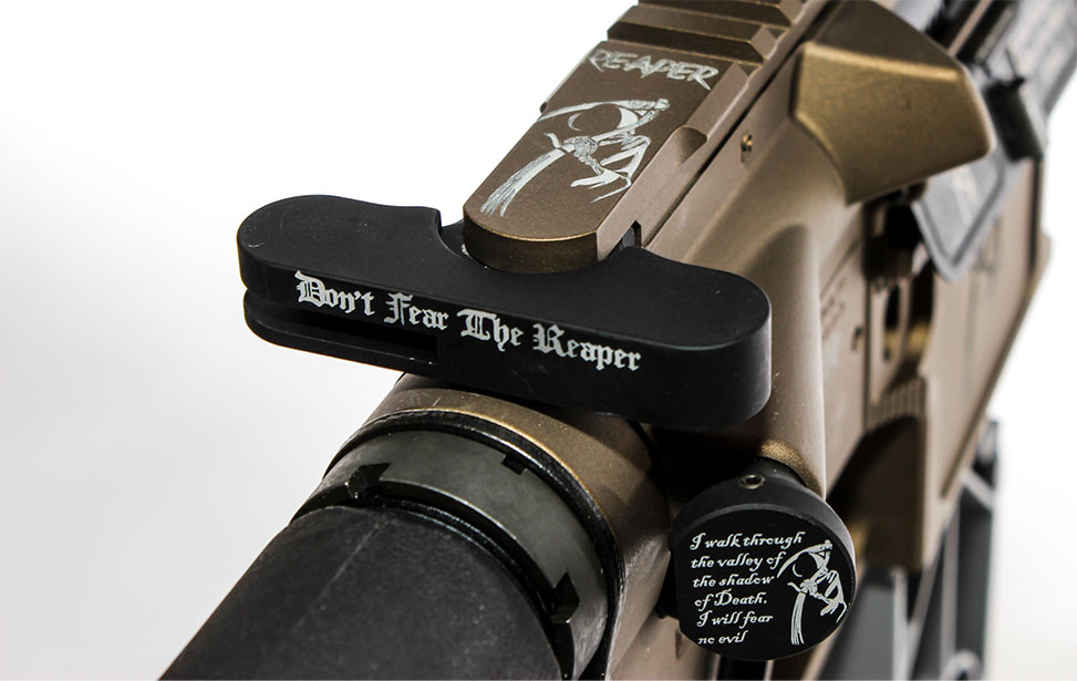 Firearm Pieces Marked with an Epilog Fiber Laser