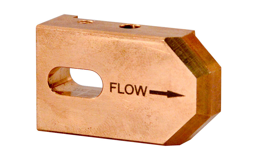 Brass Arrow flow Marked with an Epilog Fiber Laser