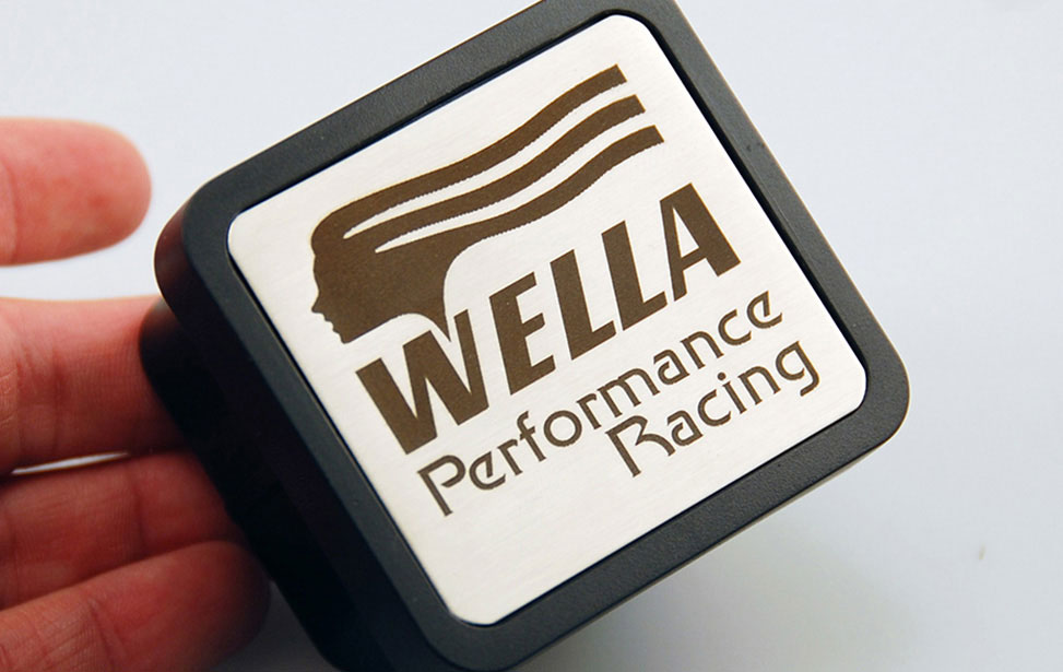 Wella Racing Part Marked with an Epilog Fiber Laser