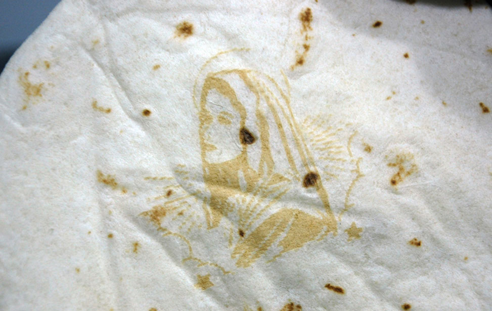 Holy Tortilla Marked with Laser
