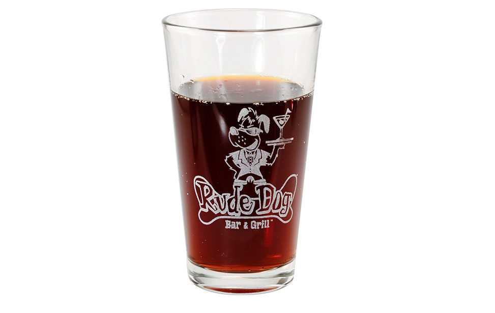 Beer Glass Engraved with Laser