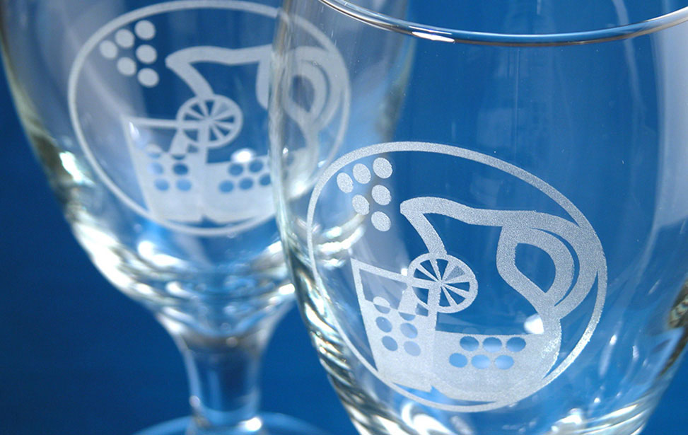 Lemonade Glasses Engraved with Laser