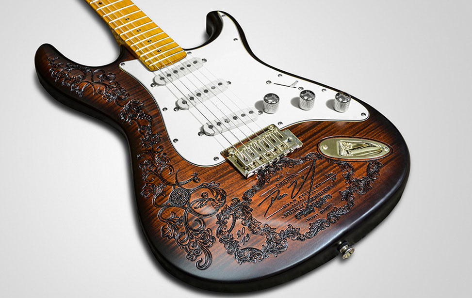Laser Engraved Dean Guitar Body