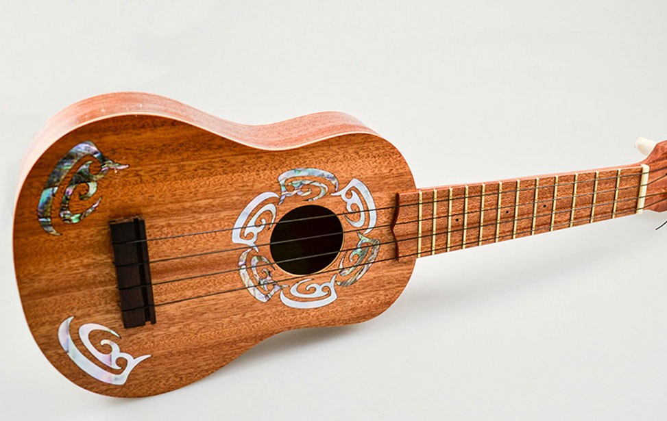 Maica Pearl inlayed ukulele
