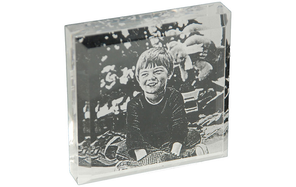 Photo Engraving of Child on Acrylic
