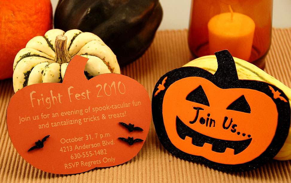 Paper and Foam Halloween Invitations