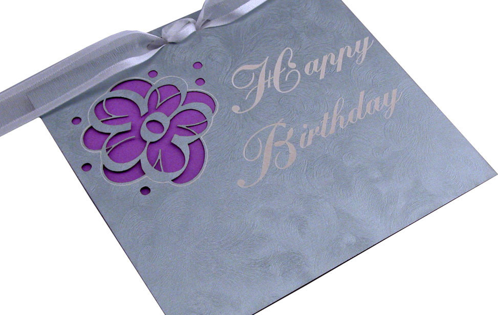 Birthday Card Cut with Laser