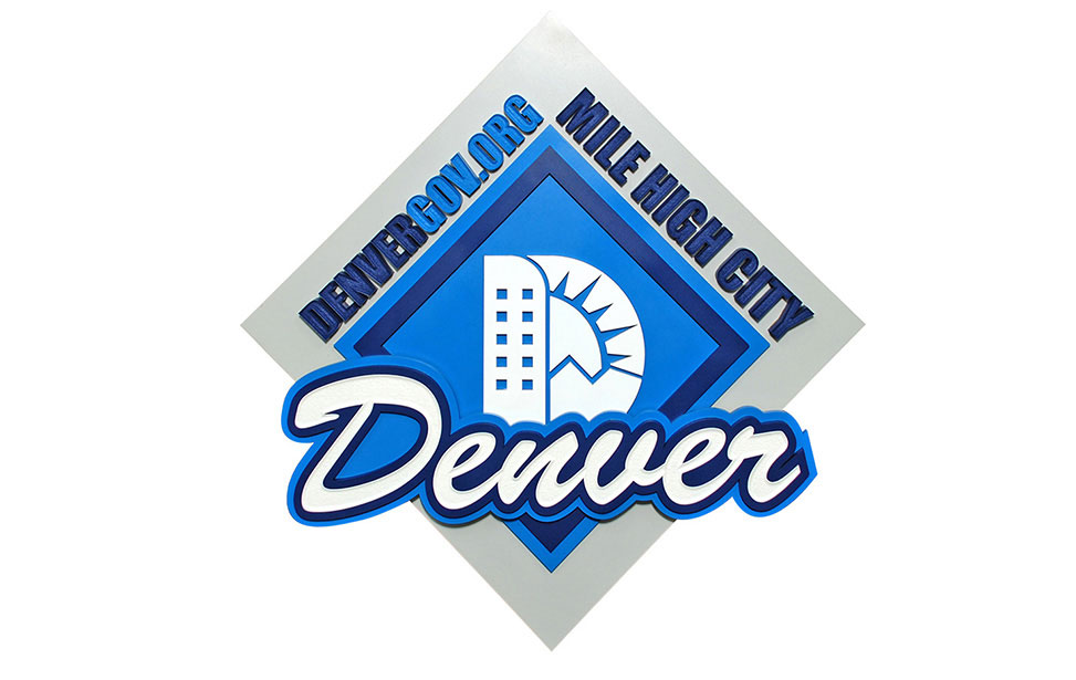 Laser Cut Denver City Sign