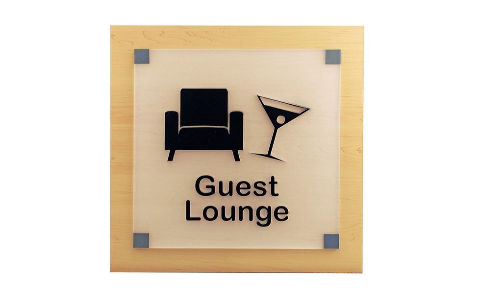 Laser Cut Guest Lounge Sign