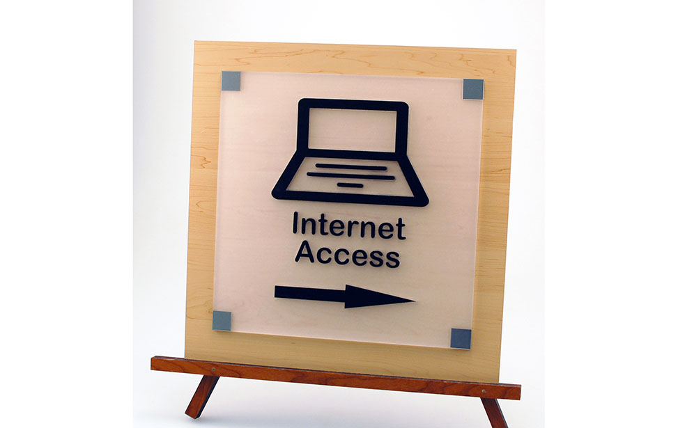 Laser Cut Internet Sign