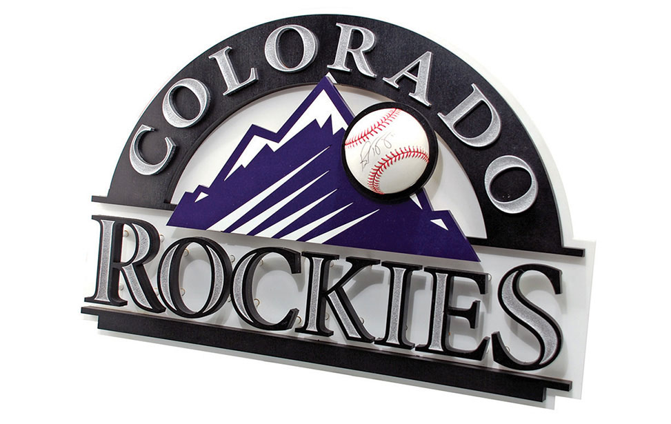 Laser Cut Rockies Sign