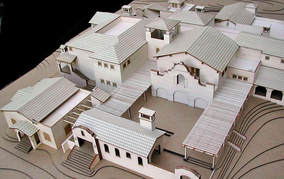 Architectural model of a Sonoma winery vinyard and topography