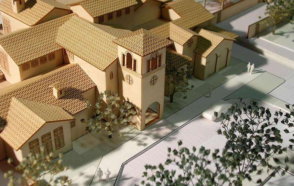 Aerial view of vinyard model front view