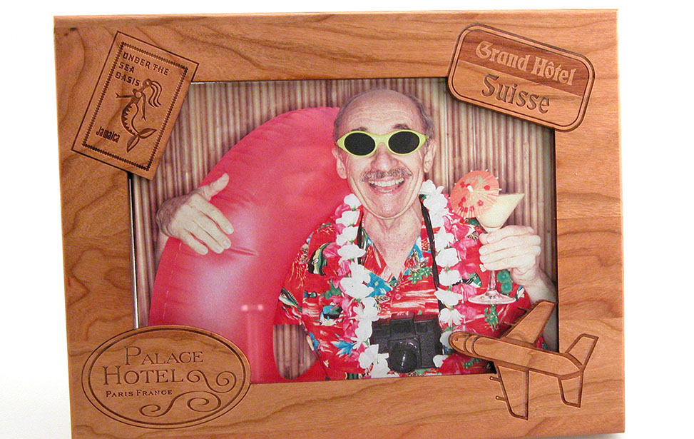 Laser Engraved Vacation Picture Frame