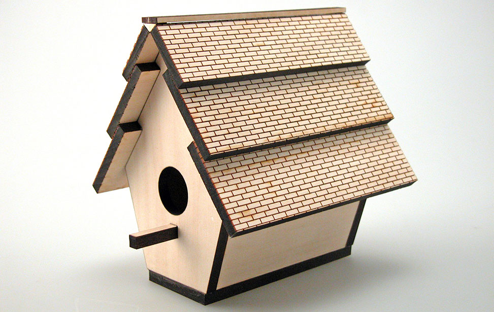 Laser Cut and Engraved Wooden Birdhouse