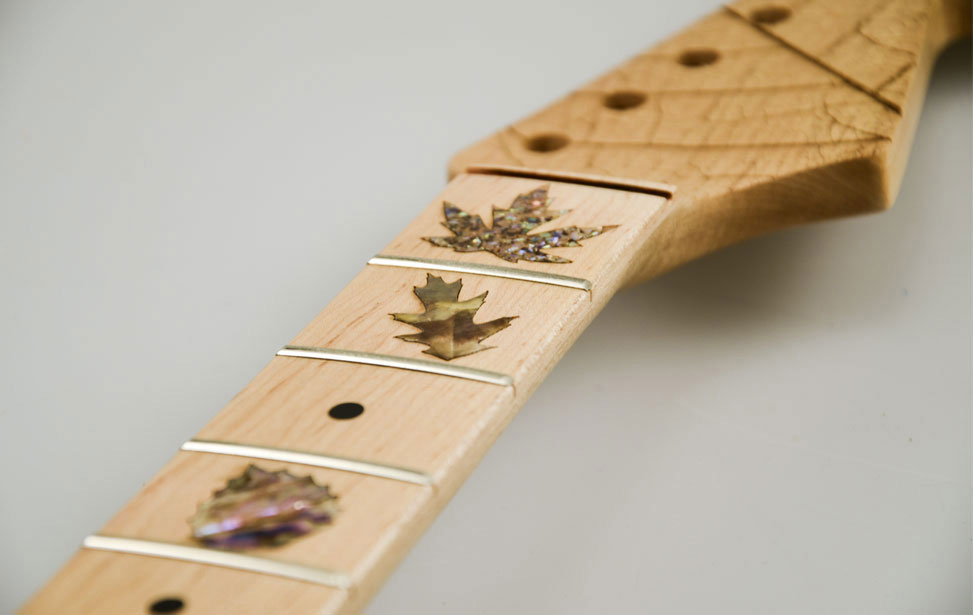 Guitar Neck with Leaf Mother of Pearl Inlay