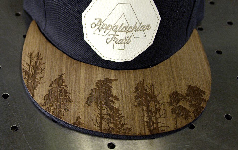 Engraved Wooden Veneer Hat Brims