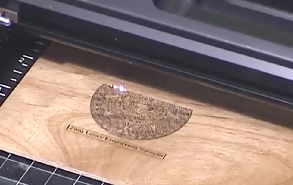 Aztec Calendar Engraving Video