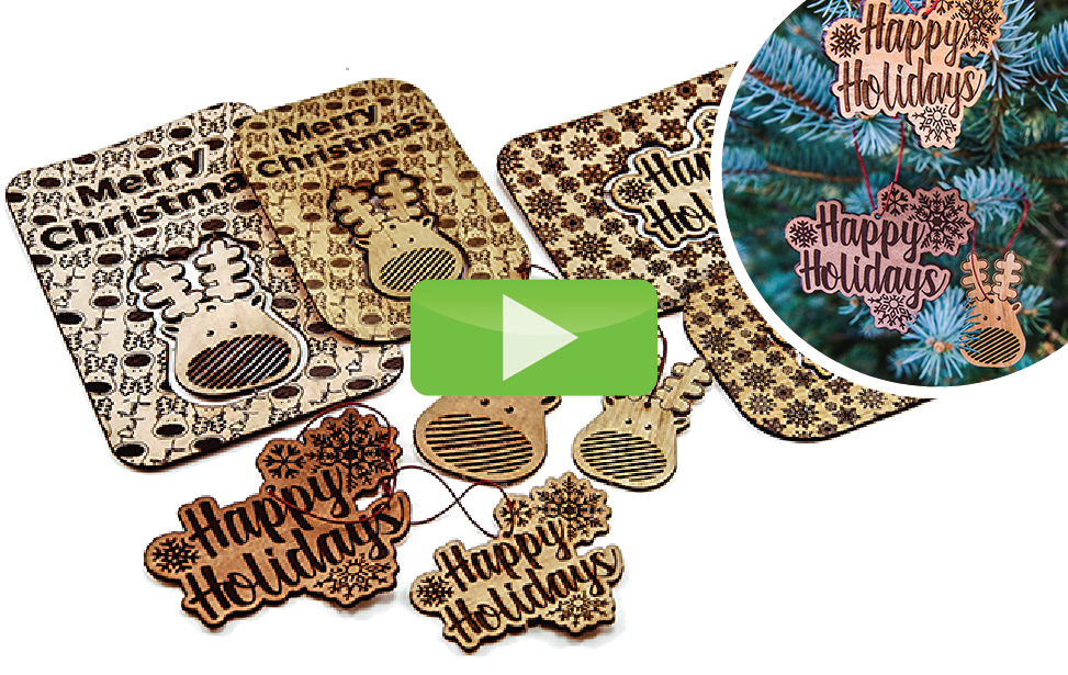 leather ornaments laser engraving and cutting video