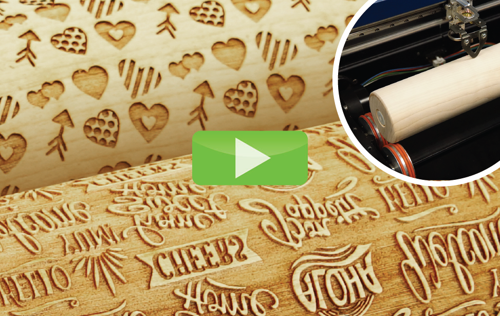 rolling pins laser engraving video
