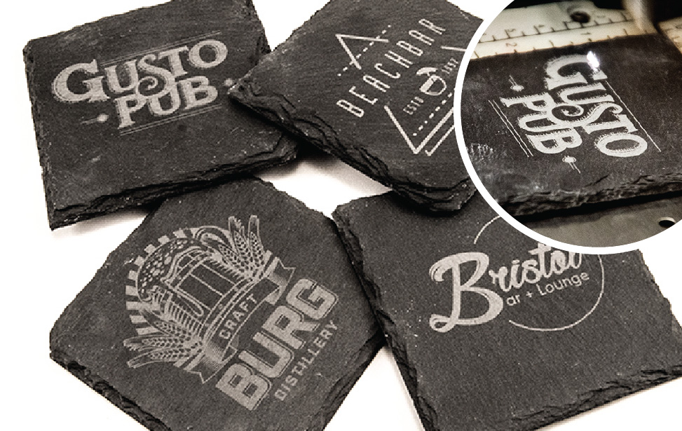 slate coasters laser engraving video