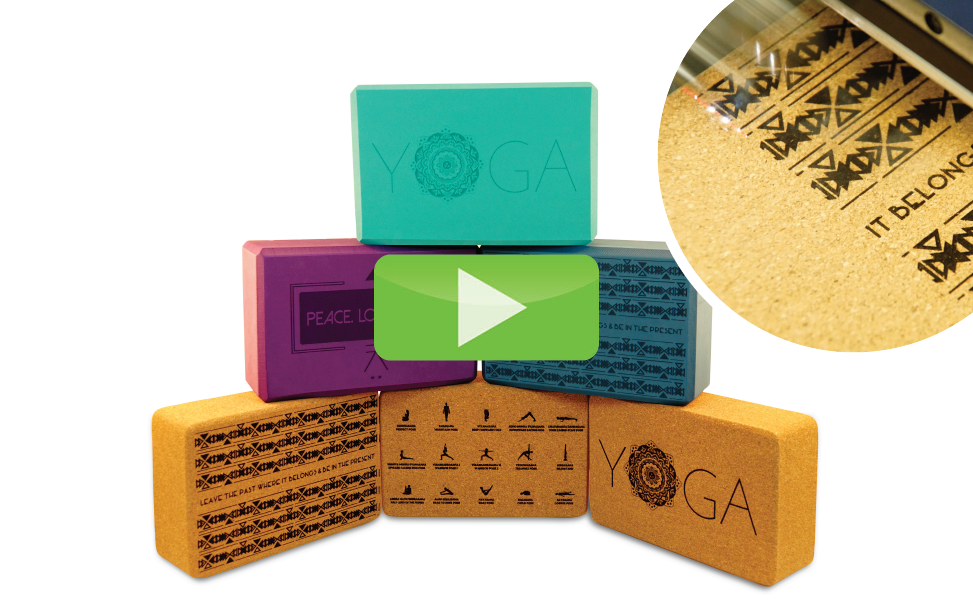 yoga blocks laser engraving video