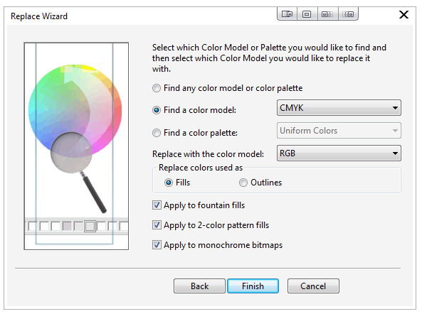 Converting Vector Artwork from CMYK to RGB - CorelDRAW - Print